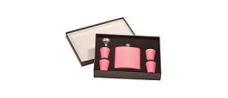 Custom engrave this pink flask set for yourself or for a gift and have 10% of the proceeds from the sale go to charity!