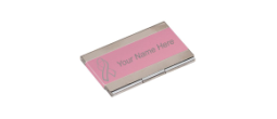 Pink Business Card Holder with 10% of proceeds going to fight breast cancer!