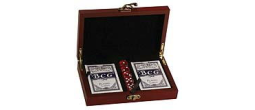 GIFT-CRD01 - Rosewood Finish Card & Dice Set