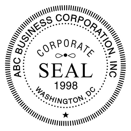 corporate seal stamp template for pdf bwpriority. Black Bedroom Furniture Sets. Home Design Ideas